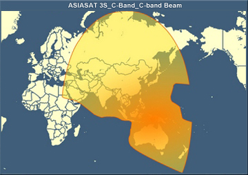 ASIASAT-3S C band at 105.5° East (for ASIA)