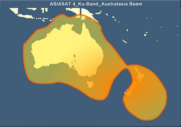 ASIASAT-4 KU band at 122° East (for AUSTRALIA & New Zealand DTH)
